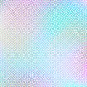 Holographic Paper. Hologram Sticker Texture. Multicolor Background. Geometric Texture. Trendy Backdr poster