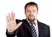 Man Denies Gesture