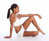 Beautiful African American Woman Slender Body