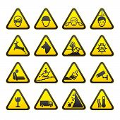 Warning Safety Signs Set