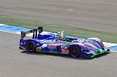 ESTORIL - SEPTEMBER 25: The Pescarolo Judd LM number 16 of the French Team Pescarolo runs to victory