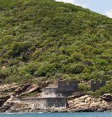 Historical War Fort on Mountain - St Thomas Island