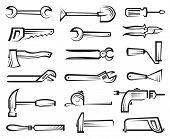 conjunto de ícones de ferramentas de trabalho