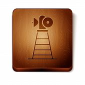 Brown Antenna Icon Isolated On White Background. Radio Antenna Wireless. Technology And Network Sign poster