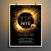 Beautiful New Year Eve Party Flyer Template Design poster