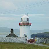 lighthouse, The Mullet Peninsula, County Mayo, Ireland