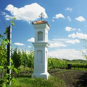 village chapel with wineyard near Perna, Czech Republic