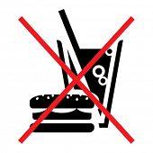 Slashed fast food vector sign