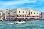 Doge`s Palace Or Palazzo Ducale, Venice, Italy. It Is Old Famous Landmark Of Venice. Nice View Of Do poster