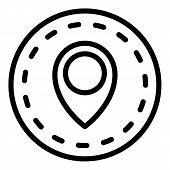 Import Location Icon. Outline Import Location Vector Icon For Web Design Isolated On White Backgroun poster
