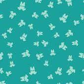 Green Baby Clothes Icon Isolated Seamless Pattern On Green Background. Baby Clothing For Baby Girl A poster