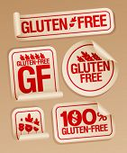 image of wheat-free  - Gluten free food stickers set - JPG