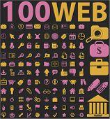 100 web icons set, vector