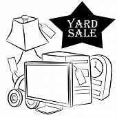 An image of yard sale items.