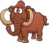 Cartoon mammoth. Vector illustration with simple gradients. All in a single layer.