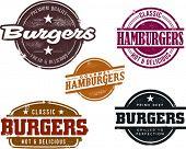 Vintage Style Hamburger Menu Graphics