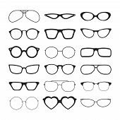 Sunlight Glasses. Fashioned Glasses Black Plastic Frames Retro Models Sun Protection Cool Eye Vision poster