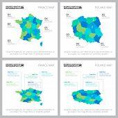 Creative Infographics Set For Statistical Report, Presentation Slide Template, Web Design, Business  poster