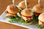 Mini Hamburger, Mini Burger, Party Essen, Fingerfood