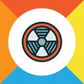 Bio Hazard Icon Colored Line Symbol. Premium Quality Isolated Radioactive Element In Trendy Style. poster