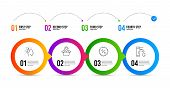 Brainstorming, Discount And Package Location Line Icons Set. Timeline Infographic. Tap Water Sign. L poster