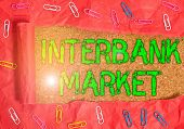 Conceptual Hand Writing Showing Interbank Market. Business Photo Showcasing Forex Market Where Banks poster