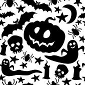 picture of drakula  - Halloween seamless pattern - JPG