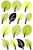 conventionalized vector tree icon