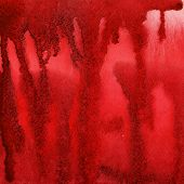Red splash, watercolor abstract hand painted background