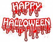 Texto sangrento do vetor de Halloween.