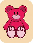 Cute Red Bear poster