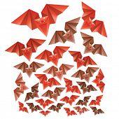 Halloween Origami Fledermäuse