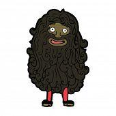 cartoon man with huge hairy beard
