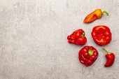 Trendy Ugly Organic Vegetables. Fresh Red Pepper poster