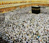 stock photo of masjid  - Kaaba Makkah Hajj Muslims - JPG