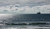 picture of off-shore  - Oil platform located off shore of Huntington Beach California - JPG