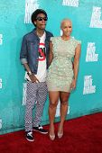 LOS ANGELES - JUN 3:  Wiz Khalifa; Amber Rose arriving at the 2012 MTV Movie Awards at Gibson Ampith