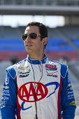 Ft WORTH, TX - JUN 08:  Helio Castroneves (3) prepares to qualify for the Firestone 550 race at the