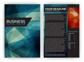 Blue Modern Brochure Template - EPS10 Vector Design