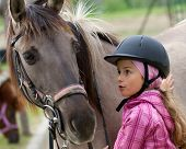 Horse whispers - Horse and lovely girl - best friends