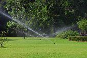 Garten Rasen Wasser Sprinkler.