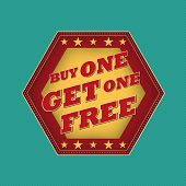 Buy One Get One Free - Retro Label