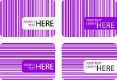 Modern Business Cards With Purple Stripes