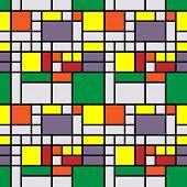 Hintergrund Kunst Jahrgang geometrische Muster im Mondrian-Stil