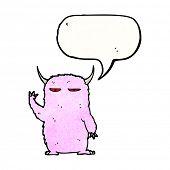 pink furry monster cartoon poster
