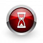 time red circle web glossy icon