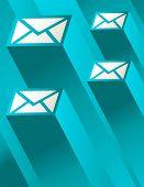 Blue Mail Illustration
