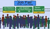 Job Fair Signs And Advertising