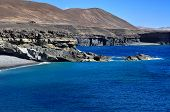 Caleta Negra, a black sand beach in Ajuy, Fuerteventura, Canary Islands, Spain