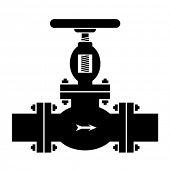 vector industrial valve symbol